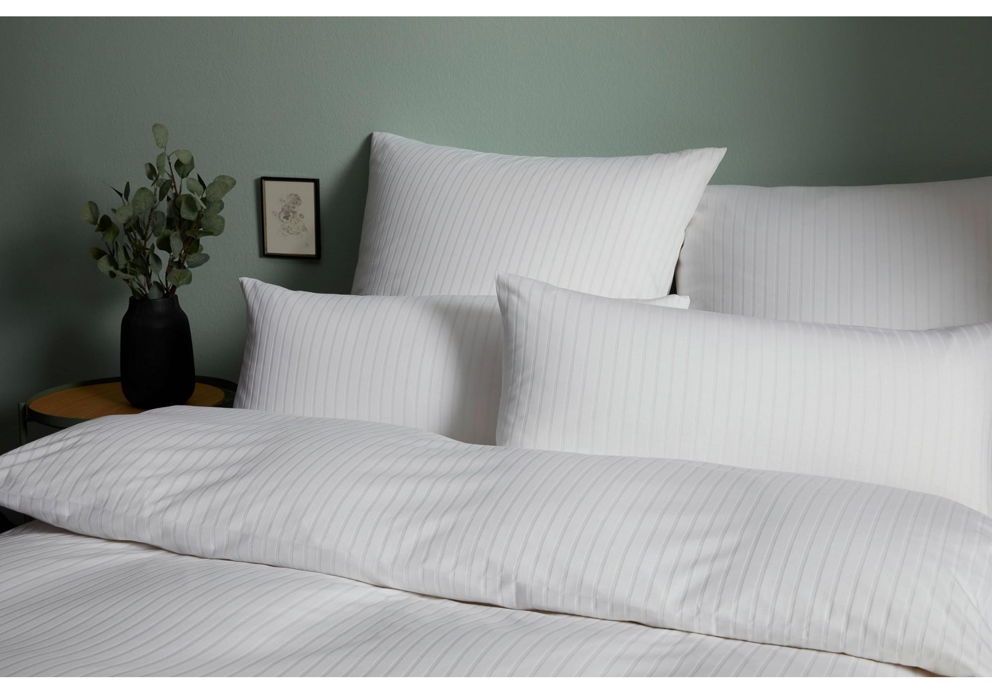 elegante Jersey Bettwäsche in Streifenoptik Solid Stripe Design No. 3507