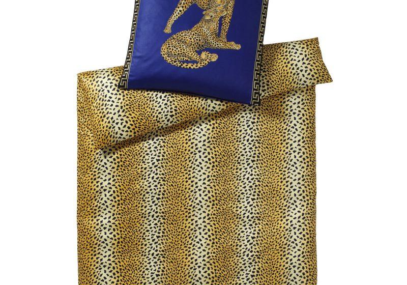 elegante Mako Satin Bettwäsche mit Animal-Print Gepard Pair Design No. 2352