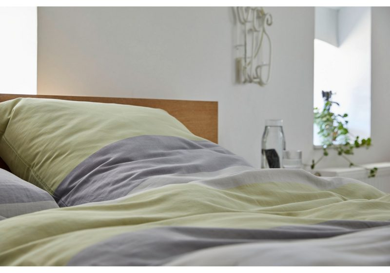 elegante Halbleinen Bettwäsche mit Powerstripes Beat Design No. 7067
