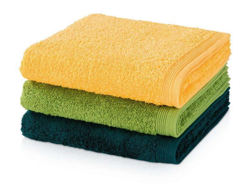 Möve Superwuschel Handtuch gelb-grün