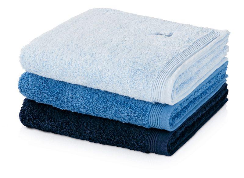 Möve Superwuschel Handtuch hellblau-dunkelblau
