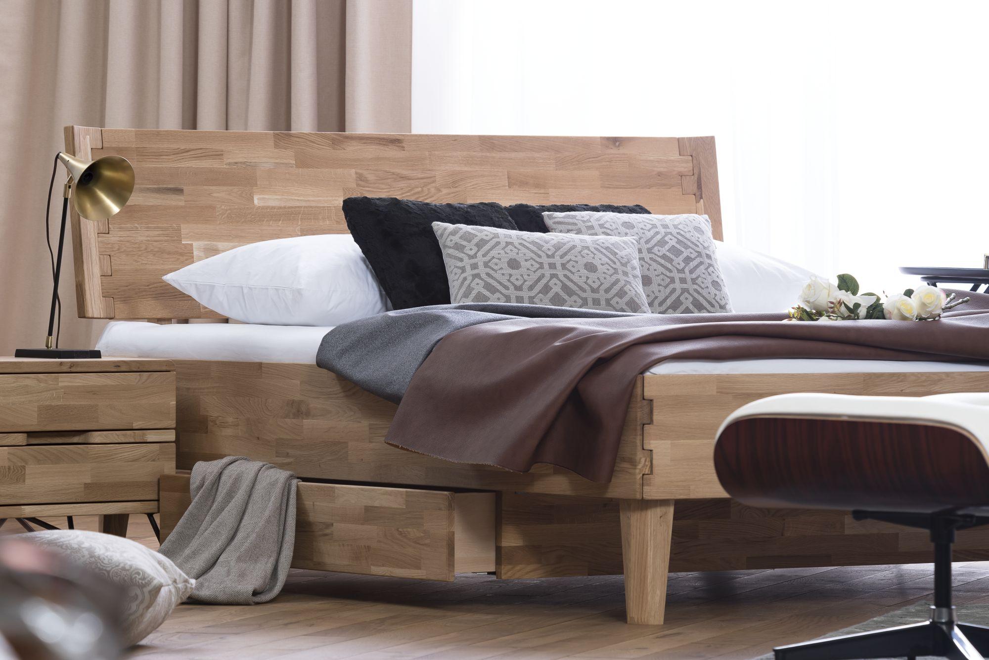 Dico-Möbel Atlanta Massivholzbett mit Stauraum