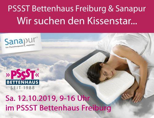 PSSST Bettenhaus Freiburg sucht den Kissenstar