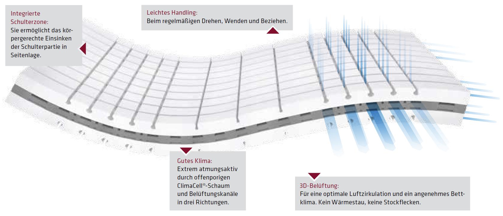 Aufbau Lattoflex-Matratze