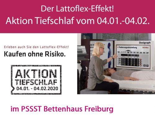 Aktion Tiefschlaf vom 04.01. – 04.02.2020 – Der Lattoflex-Effekt!