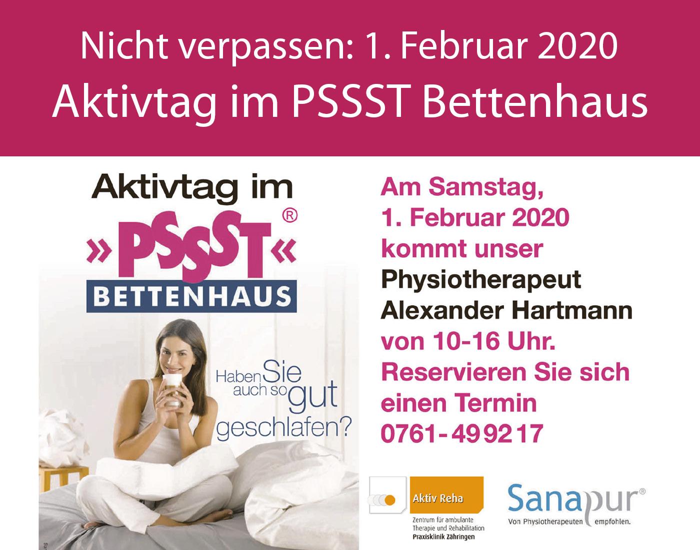 Aktivtag im Bettenhaus Freiburg - 01.02.2020