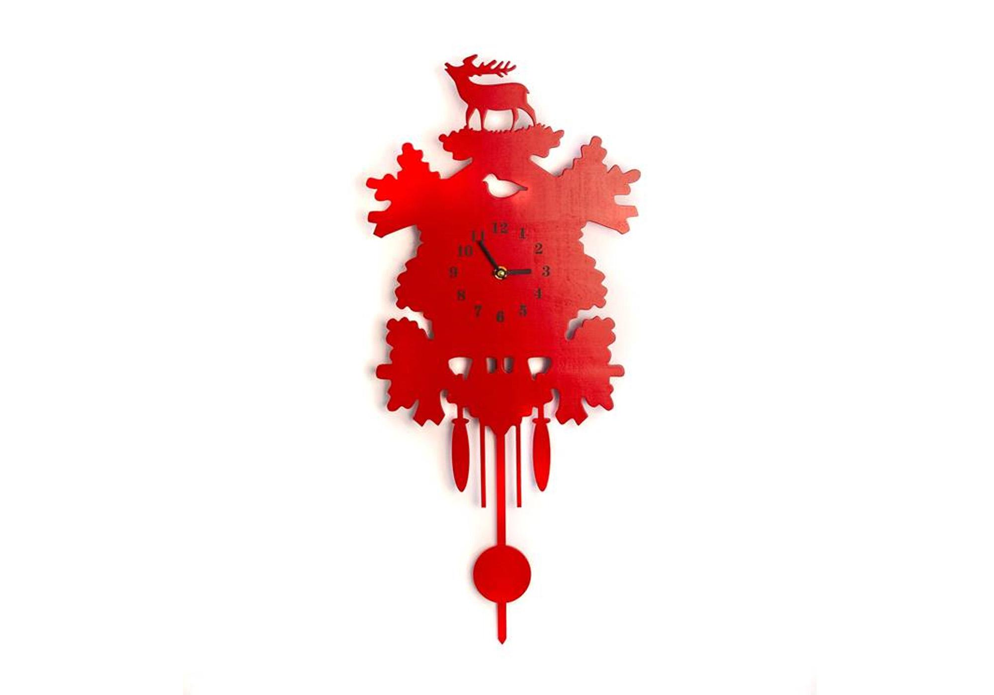 Originelle Kuckucksuhr Rot