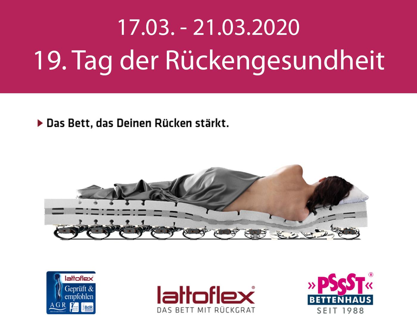 PSSST Bettenhaus Freiburg - 19. Tag der Rückengesundheit - 17.03.-21.03.2020