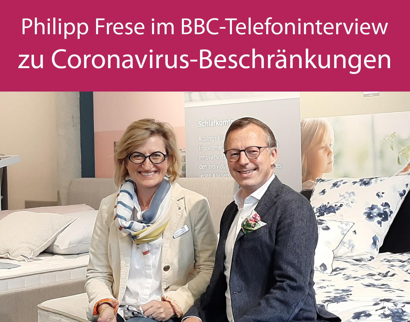 Philipp Frese im BBC-Telefoninterview zu Coronavirus-Beschränkungen