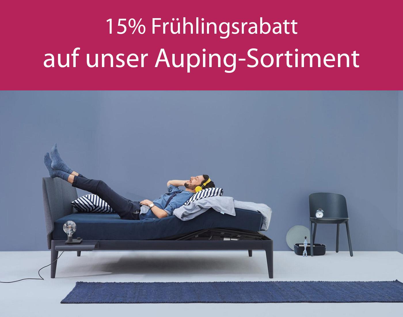 15 Prozent Rabatt auf Auping Bettenmodelle