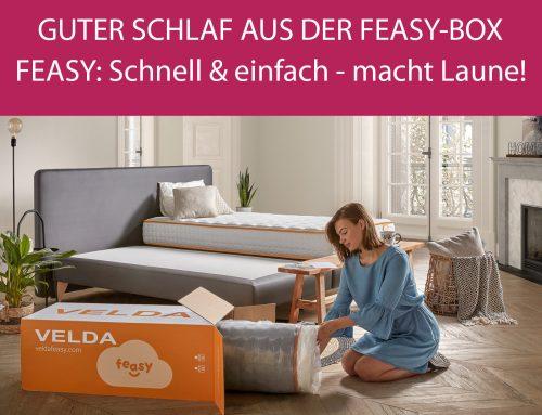 Guter Schlaf aus der VELDA Feasy-Box – Feasy: Schnell & einfach – und macht Laune!