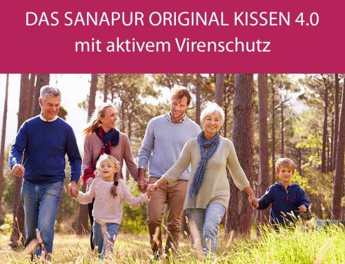 Das Sanapur Original Kissen 4.0 mit aktivem Virenschutz – für jedes Alter