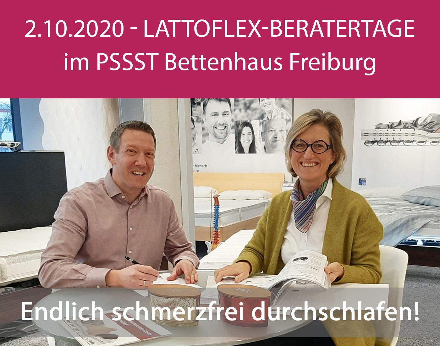 News - PSSST-Lattoflex-Beratertage Freitag 2.10.2020