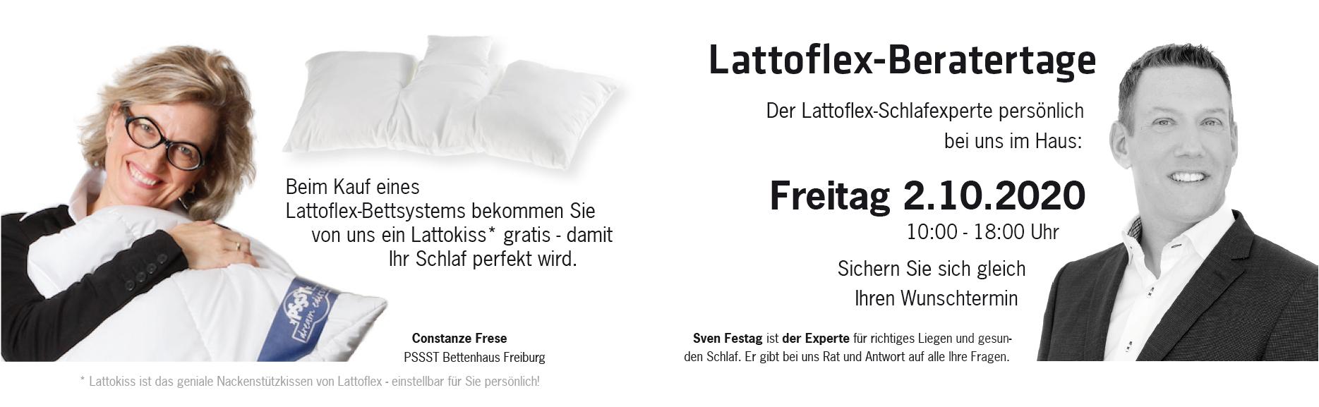 PSSST-Lattoflex-Beratertage Freitag 2.10.2020