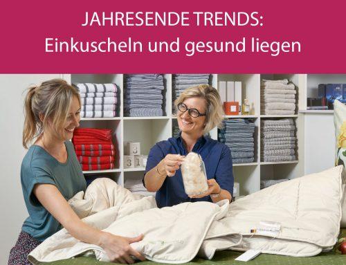 Jahresende Trends: Gemütlich einkuscheln und gesund liegen